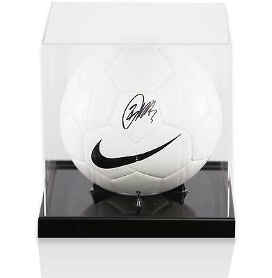 Danny Rose Official England Signed Nike Football in Acrylic Case Autograph