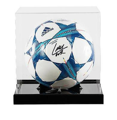 Luis Suarez Signed Official 2015-16 UEFA Champions League Football In Acrylic Ca