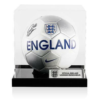 Raheem Sterling Official England Signed England Football In Acrylic Case