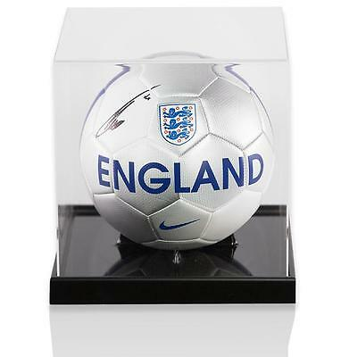 Theo Walcott Official England Signed England Football In Acrylic Case