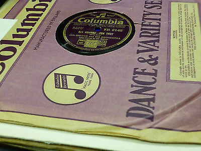 JOBLOT Collection of 9x DANCE BAND 78rpm Gramophone Records (Lot 1/16)