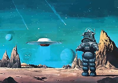 Forbidden Planet Movie Classic Cult Poster Picture Wall Art Print A3 Amk2408