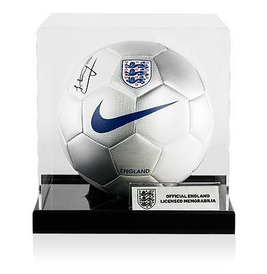 Jesse Lingard Official England Signed England Football In Acrylic Case
