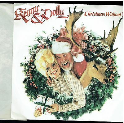 Kenny Rogers & Dolly Parton Christmas Without You Ps 45 1984