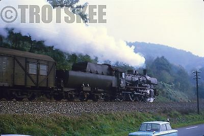 35mm Slide DB West Germany Railways Steam Loco 38 055 Eberbach 1969 Original