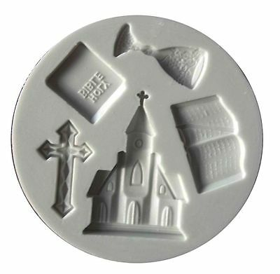 Alphabet Moulds Holy Communion sugarcraft mould Chalice Cross Bible Church