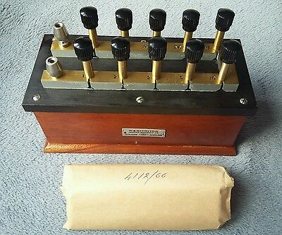 Vintage Scientific Instuments  By W.b. Nicolson   Resitance Box Block