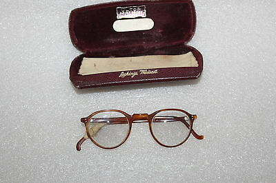VINTAGE FAUX TORTOISESHELL SPECTACLES AND CASE c 1950'S