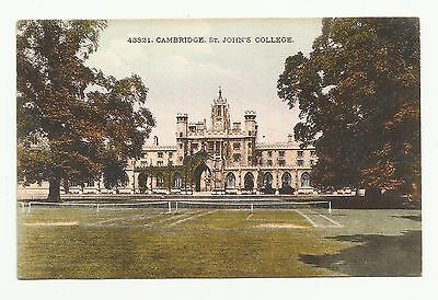 Cambridge: St. John's College. Tennis Courts, early to mid 1900s.