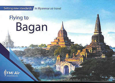 1 x FMI AIR Fly to Bagan AIRLINE ISSUE POSTCARD