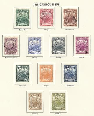 Newfoundland # 115-126 Mh 3 Used Trail Of The Caribou Issue Cv $378 Sent On Page