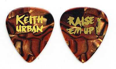 Keith Urban Orange Pearl Guitar Pick - 2015 Raise Em Up Tour