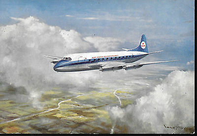 1 x KLM VICKERS VISCOUNT AIRLINE ISSUE POSTCARD