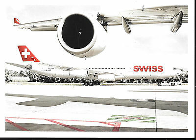 1 x SWISS A340-300 AIRLINE ISSUE POSTCARD