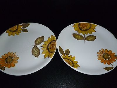 Alfred Meakin Two Sunflower Plates