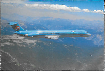 1 x KOREAN AIR MD82 AIRLINE ISSUE POSTCARD(3)