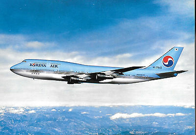 1 x KOREAN AIR B747 AIRLINE ISSUE POSTCARD *HL-7443*