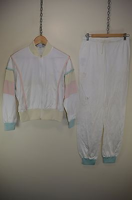 vtg 80s SERGIO TACCHINI TRACK SUIT TRACKSUIT TOP & BOTTOMS TROUSERS PANTS UK 10