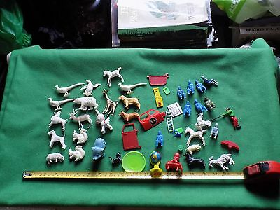 vintage plastic animals,unknown brand,bits and spares,job lot