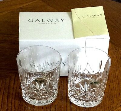 24% lead crystal glasses by Galway  boxed