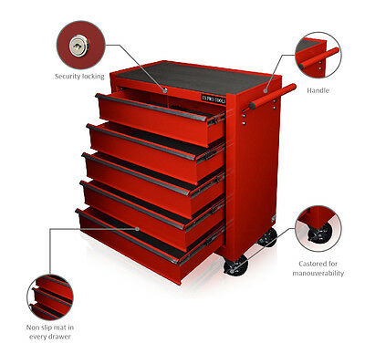 102 Us Pro Red Tools Affordable Steel Chest Tool Box Roller Cabinet 5 Drawers