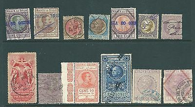A collection of stamps from ITALY including Fiscal/Revenues