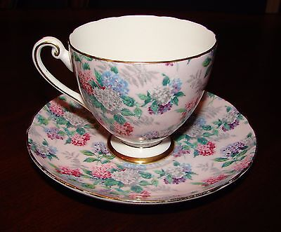 Shelley Summer Glory Pink Chintz Ripon Cup and Saucer rare