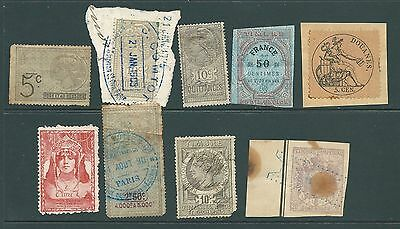 A collection of stamps from FRANCE - Fiscal/Revenues