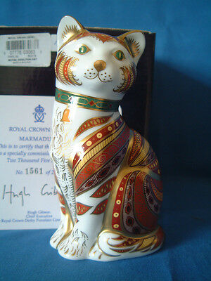 Royal Crown Derby ** Marmaduke The Cat **paperweight Ltd. Ed.