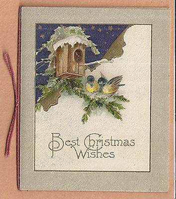 4 1880s90s Victorian Era CHRISTMAS CARDS folders messages poems
