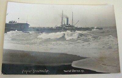 Napier Breakwater New Zealand RP Old Postcard Auckland Publisher