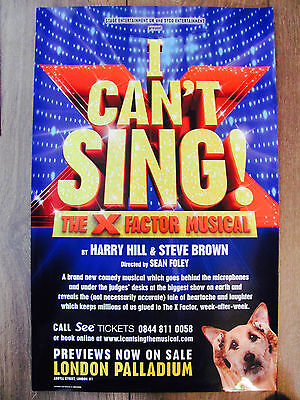 I Cant Sing The X Factor Musical London Musical Theatre Poster