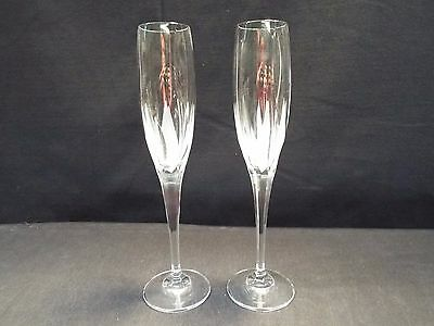 "Set of (2) Mikasa Flame d'Armore 10 3/4"" Flutes"