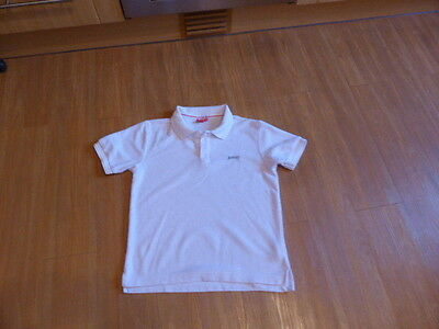 Boys white Polo Shirt size 11-12 years VGC