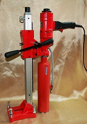 """NEW 4"""" BLUEROCK ® Tools 4"""" Z-1WS CORE DRILL 2 SPEED W/ STAND CONCRETE CORING"""
