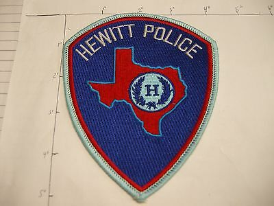 Hewitt Police Dept Hpd Hew Wit City State Shape Of Colorful Texas Patch