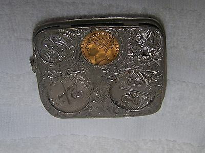 Coin Holder With Victorian Coin