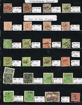 India Two Pages Feudatory Staes Hyderabad  Charkari F-Vf  (Sp18