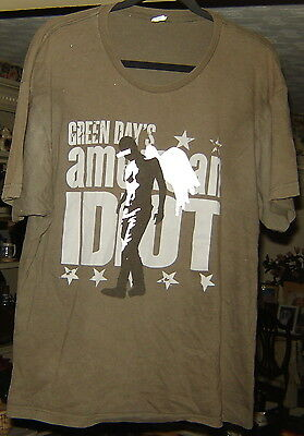 Green Day American Idiot Gray Musical T-Shirt Size Xl