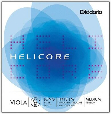 D'Addario H413 Helicore Long Scale Viola Light G String 16+ Long Scale Medium