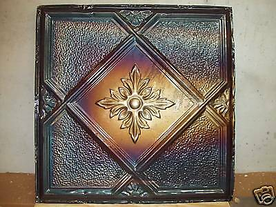 "24"" x 24"" Antique Tin Ceiling Tile - Light Charcoal"
