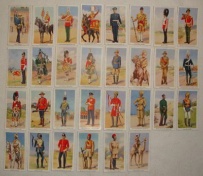 Godfrey Phillips Cigarette Cards: Soldiers of the King, 1939, Part Set - 30 / 36