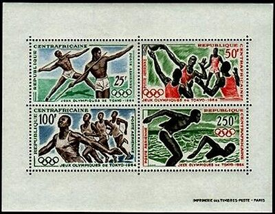 CENTRAL AFRICA Sc.# C23A Olympics 1964 NH Stamp S/S