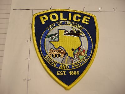 Gregory Police Dept Gpd Greg Tracks City State Shape Colorful Texas Patch