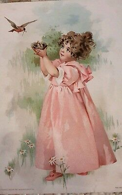 Victorian Trade Card WOOLSON SPICE CO LION COFFEE Midsummer greeting/lion coffee