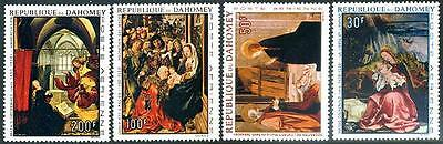 DAHOMEY Sc.# C63-66 Famous Paintings Airmail Stamps