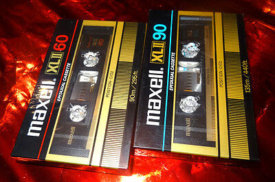 MAXELL XL II 60 & 90 Type II Cassettes von 1982 very good condition sealed OVP