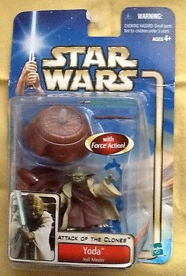 Hasbro Star Wars Attack Of The Clones Ii Yoda Action Figure New