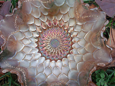 Dugan Fishscales Beads Carnival Glass Bowl