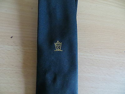 Masonic  Motif Black Neck Tie (79)